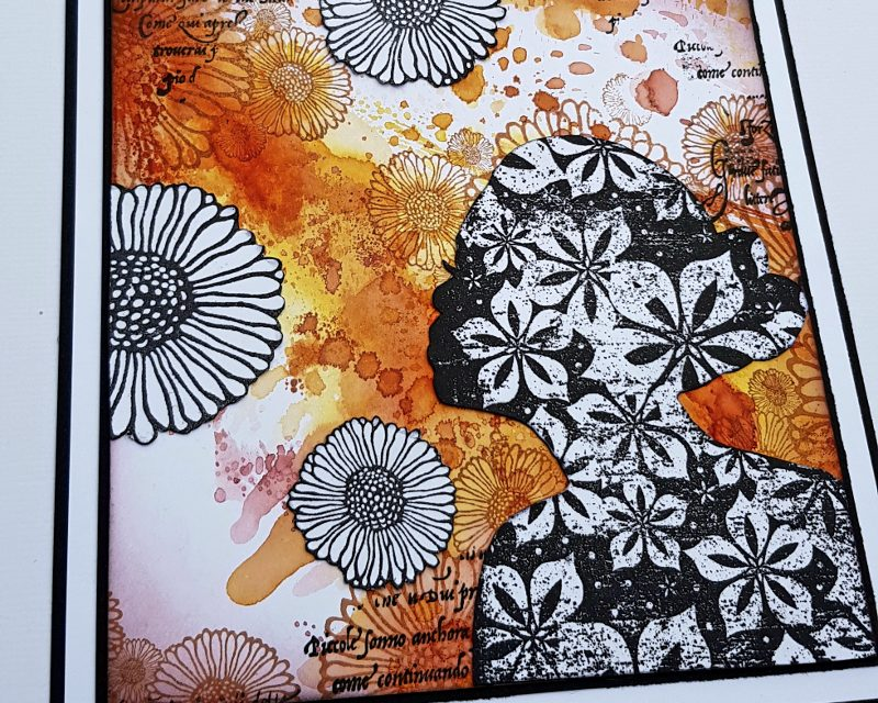 Distress Inks, Flowers and Lost Coast Designs Stamps