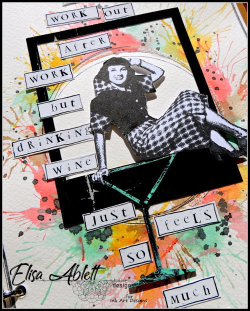 Scrapbook Page with 50's Girl from Lost Coast Designs by Elisa