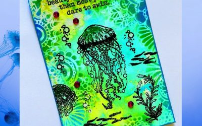 Card Using Visible Image Dare To Swim by Marie-Christine