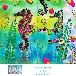 Art Journal Page with Visible Image Stamps by Marie-Christine