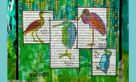 Art Journal Page with Crafty Individual Stamps by Marie-Christine Denis