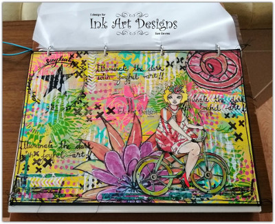 Chubby Chics Art Journal Page by Sue Davies