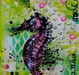 Creative Journal with Visible Image Stamps by Marie-Christine Denis