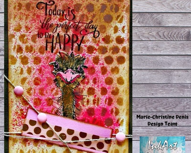 Card Using Katzelkraft Stamps by Marie-Christine Denis