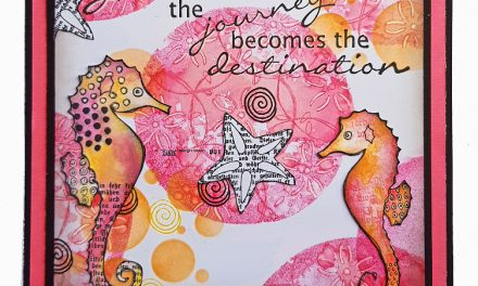 Gelli Print on a Card for Rubber Dance