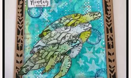 Tag using Art By Marlene, Lavinia and Rubber Dance Stamps by Sue Davies