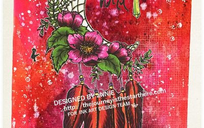 Art Journal with That's Crafty Stamps by Annie Sharland