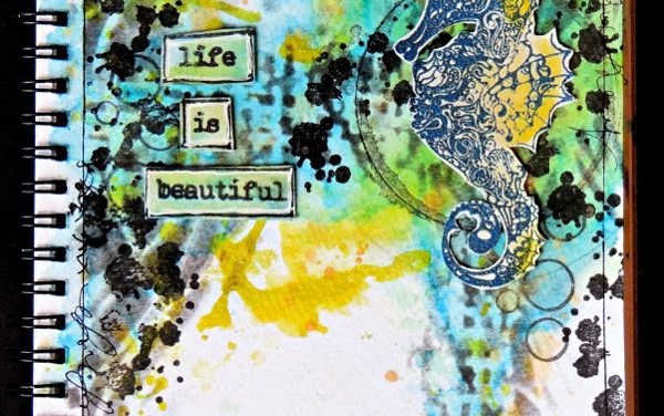 Art Journal Page by Elisa Ablett