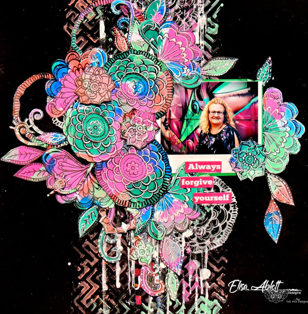 Scrapbook Page Using Art By Marlene Stamps by Elisa Ablett
