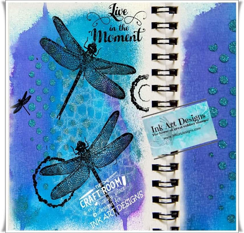 Art Journal Page Using Visible Image Stamps by Annie Sharland