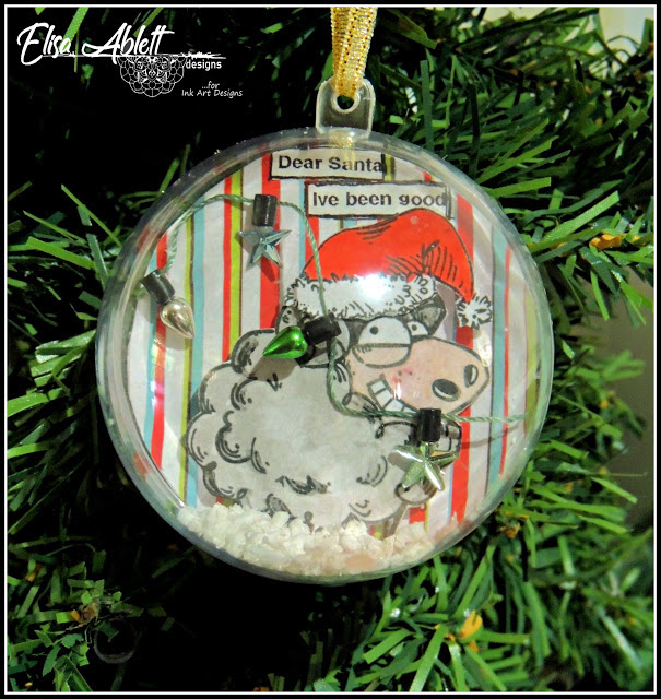 Christmas Baubles Using Katzelkraft Stamps by Elisa Ablett
