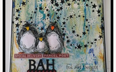 A Christmas Card Using Katzelkraft Stamps by Sue Davies